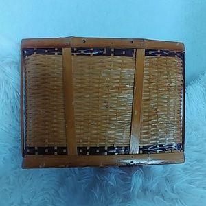 Vintage Accents - 3 Vintage Wicker Rattan Bohemian Boho Baskets